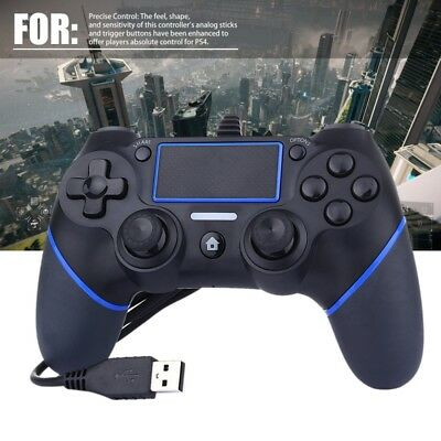For PS 4 USB Wired Controller Gamepad Joypad Multiple Vibrations Controllers