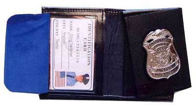 Pando Leather billfold wallet badge case Made in the USA FREE SHIPPING!