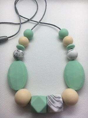 Silicone Sensory (was teething) Necklace for Mum Gift Aus Sell Mint Jewellery
