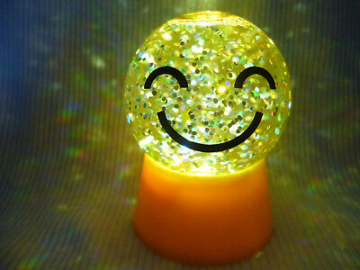 Hallmark Gift Bag Smiley Face Lighted Snow Globe Glitter FREE Ship NEW