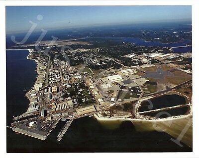 "8"" x 10"" Color Colour Photo Aerial View The Naval Air Station Pensacola, Florida"