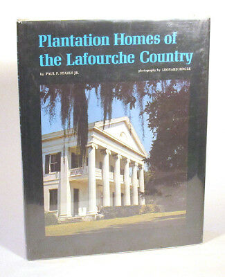 1976 PLANTATION HOMES OF LAFOURCHE COUNTRY Louisiana SIGNED Architecture 1st Ed.