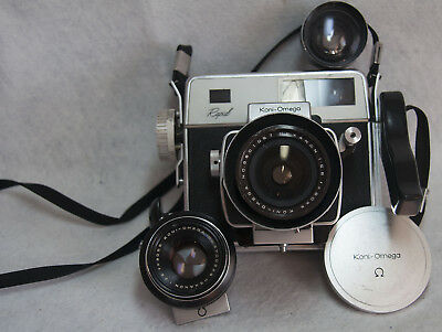 Koni-Omega Vintage Medium Format Rangefinder Camera with back & 2 lenses