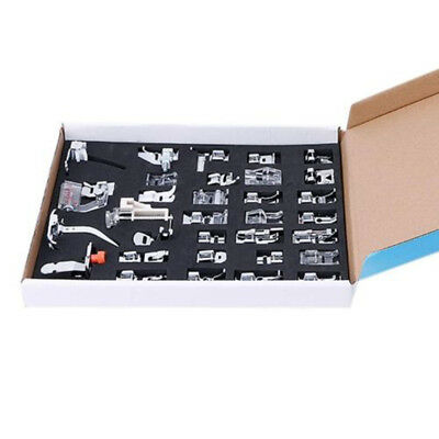 32x/set Sewing Machine Foot Presser Walking Feet Kits for Singer Brother Janome