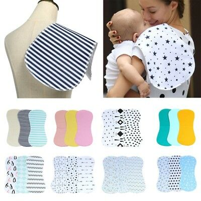Waterproof Burp Cloths Burpy Bib Set 3 Pack Cotton For Boys and Girls