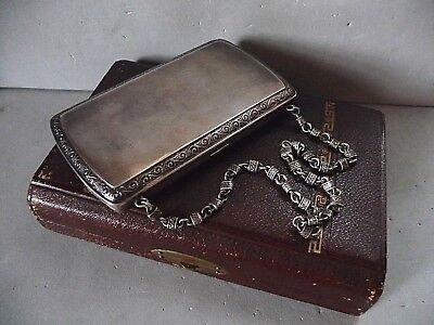 Victorian antique Gorham sterling silver purse case wallet 3.9 oz Original Box