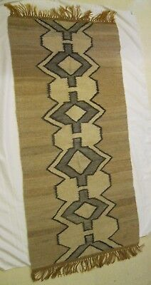 "Mohair Wool Lesotho African Rug 32"" X 72"" With Fringes"