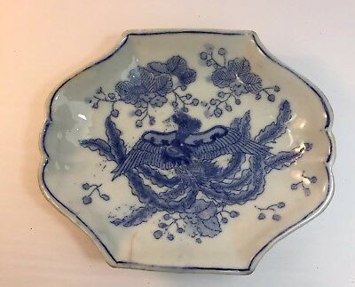Antique Hand Painted Chinese Japanese Oriental Dish ( Singed )
