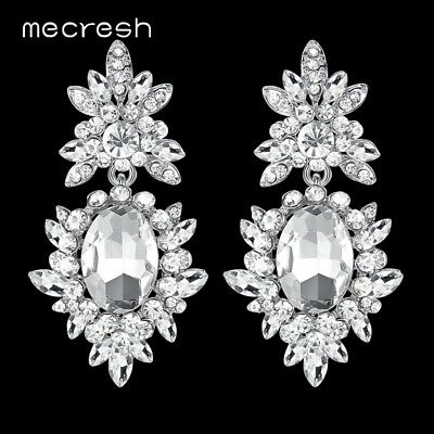 Bridal & Wedding Party Jewelry Buy Cheap Micro Pave Cubic Zircon White Gold Plate Wedding Bride Hollow Round Earrings A20