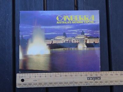 1 x OLD RETRO TRAVEL SOUVENIR BOOKLET OF CANBERRA BW4