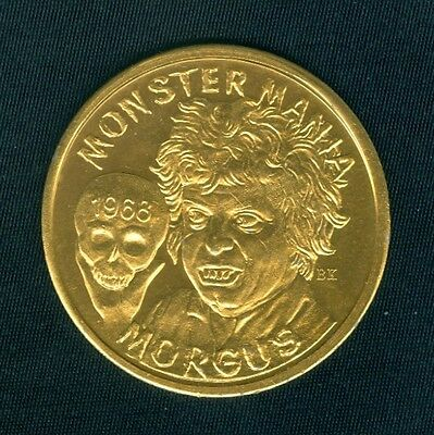 MORGUS - The Magnificent Holding Skull - Mardi Gras Doubloon Token 1968