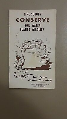 Girl Scouts Conserve Soil - Water - Plants - Wildlife Girl Scout Senior Roundup