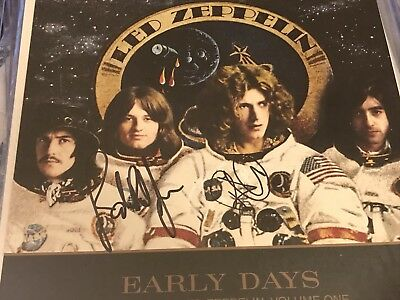 Led Zeppelin Early Days Hits LP Flat Signed By Plant And jones! In Person!