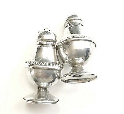Antique 1800's Sterling Silver Salt & Pepper Shakers Marked 18 Beautiful
