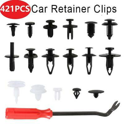 421PCS Car Body Trim Clips Rivets Retainer Bumper Screws Panel Push Fastener Kit