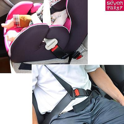 Car Tucker Universal Black Clip-in Safety Seat Belt Buckle Extender Extension CA