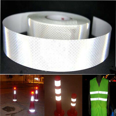 2inch x10ft Silver White Reflective Safety Warning Conspicuity Tape Film Sticker