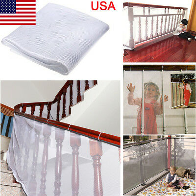 Baby Children Safety Thicken Fence Net Home Balcony Stairs Railing Protector USA