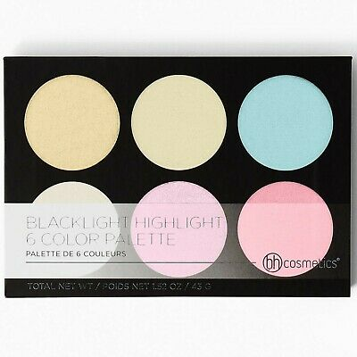 BH Cosmetics BLACKLIGHT Highlight 6 Color Palette - 100% AUTHENTIC