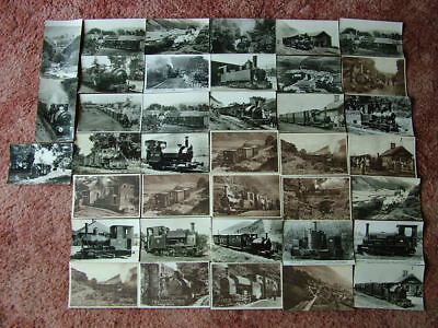 38 Old Mainly Unused Postcards of THE TALYLLYN RAILWAY. Good condition. Standard