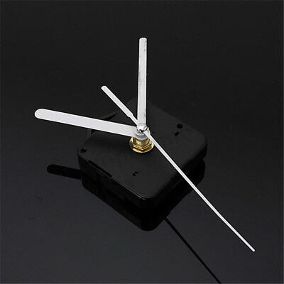 Silent DIY Quartz Clock Movement Spindle Mechanism Parts Tool with White Hand UK