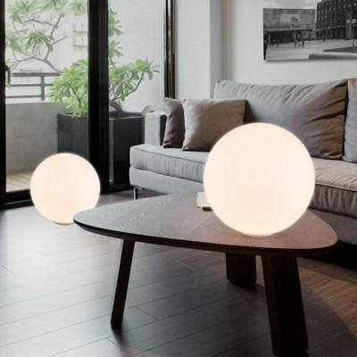 Modern Glass Globe Holder Lampshade Desk Lighting Metal Table Lamp Night Lights