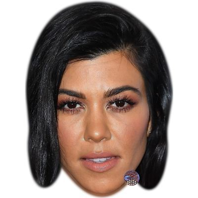 Kourtney Kardashian (Black Hair) Maske aus Pappe