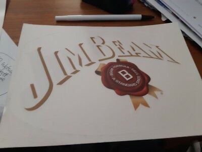 large 20cm wide  jim beam window sticker (oval )