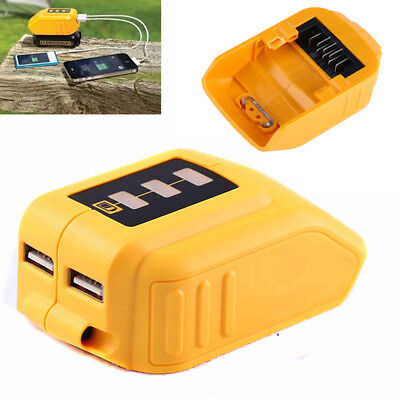 Hot New for Dewalt DCB090 USB Charging Battery Adapter Power Charger Portable UK