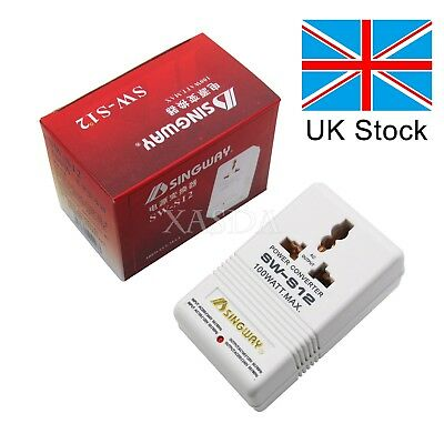 UK Stock 110V/120V to 220V/240V Step Up&Down Voltage  Converter Transformer US