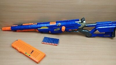Nerf Long Strike CS-6 Toy Gun With Magazine and 10 Ammo Fully Tested RARE