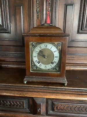 Old Vintage Mantel Wooden Clock Empire deluxe made in England DL195