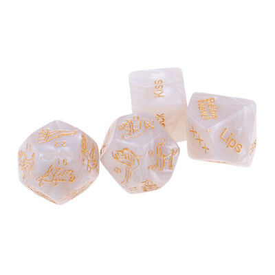 4Pcs Pearl Sex Position Love Game Dice Fun Toys for Couples Bedroom Foreplay