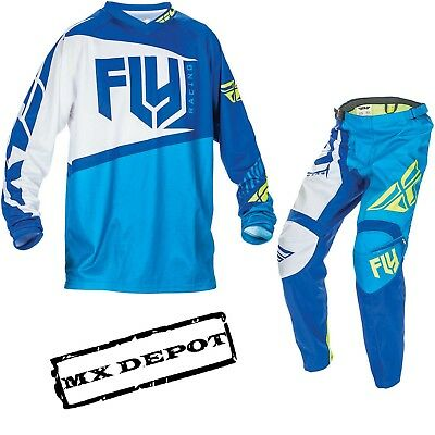 Fly Racing F-16 Blue Motocross Kit Combo Mx Adult Jersey Pants Sale Cheap