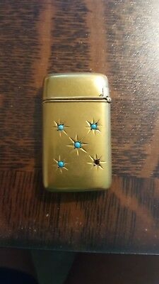 Match Safe Gold plated? with turquoise stones