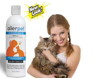 Allerpet Cat Dander Remover, 12 oz, Prevents Allergic Reactions from Cats