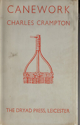 CANEWORK by Charles Crampton..Vintage 1956.Incl Intro to History of Basket Makin