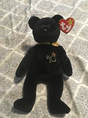 """Ty Beanie Babies Millenial Bear """"The End"""" Plush Toy Retired"""