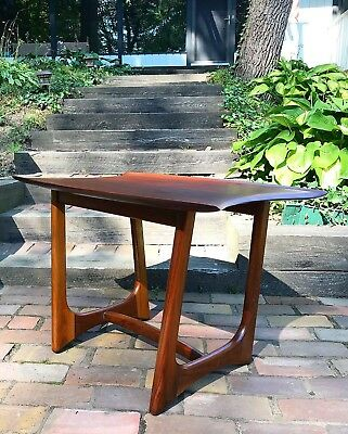 Midcentury Modern Adrian Pearsall Craft Associates Walnut Stingray Side Table