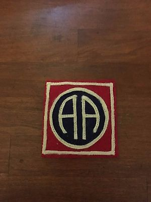 """WWI US Army patch 82nd """"All American"""" Division patch AEF"""