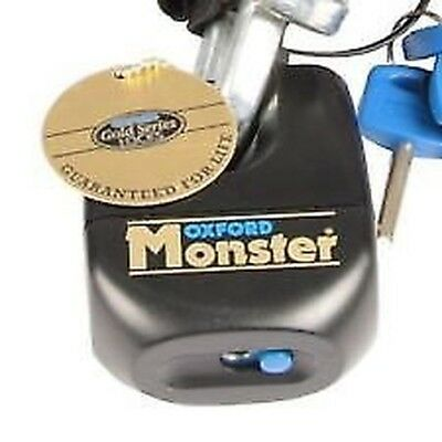Oxford Monster Motorrad Motorcycle Double Locking Mechanism Ultra Strong Padlock