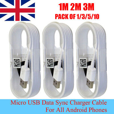 1/3/5/10 pcs Micro USB Data Sync Cable Charger Lead for Android Phone Samsung LG