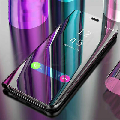 For Huawei Honor 8X 7A 10 9 8 Lite 7C Smart Clear Mirror Stand Flip Case Cover