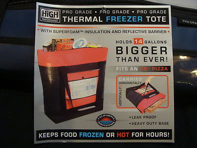 Insulated Commercial Food Delivery Bag - Professional Hot/Cold Thermal Carrier