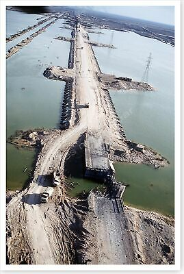 Euphrates River Collapsed Bridge Operation Desert Storm 8x12 Silver Halide Photo