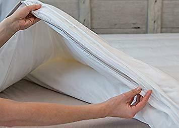 Single Anti Allergy Anti Bacterial Anti Dust mite Duvet Quilt Protector Zippered
