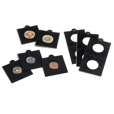 Lighthouse Self Adhesive Coin Holders Black Matrix Quantity 50 holders All Sizes