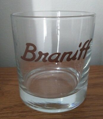 Braniff Drinking Glass Airline Vintage Flight
