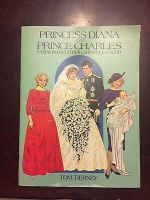Princess Diana and Prince Charles Fashion Paper Dolls in Full Color by Tom Tier…
