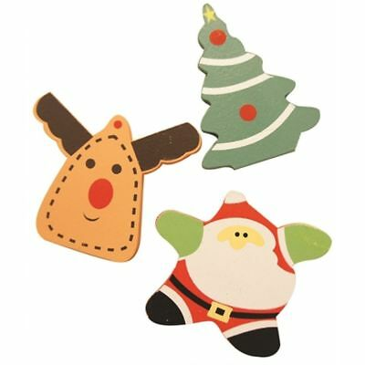 3 Christmas Wooden Nibblers Festive Shapes For Rodents & Small Animals To Gnaw